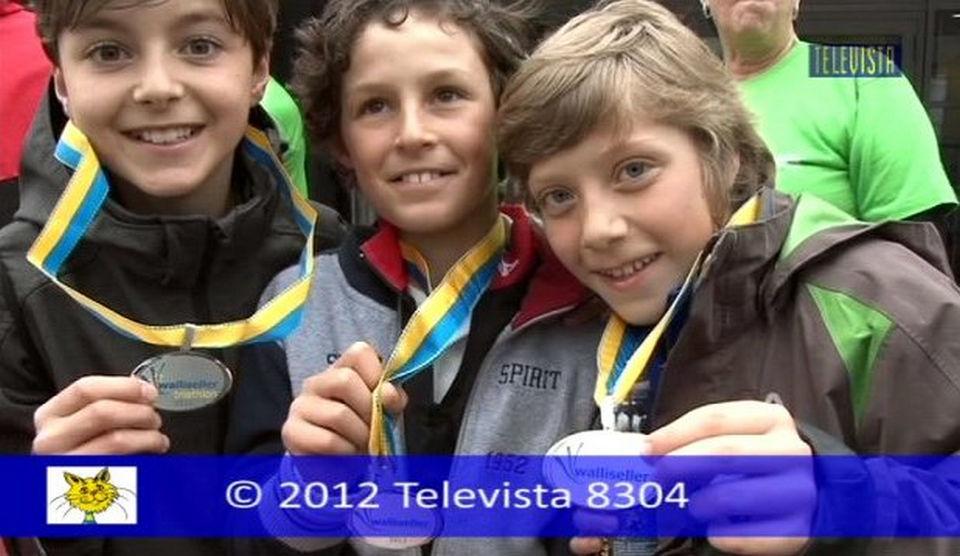 Vorschaubild für Schlussmoderation mit Bilder vom Walliseller Triathlon