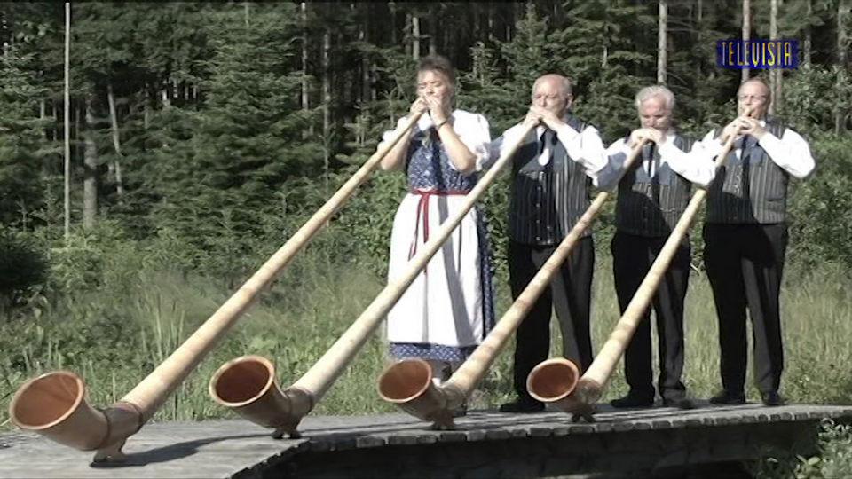 Vorschaubild für Musikalischer Schlusspunkt mit der Alphorngruppe Swissair