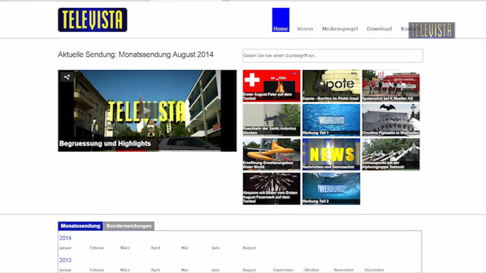 Vorschaubild für Televista hat eine neue Homepage