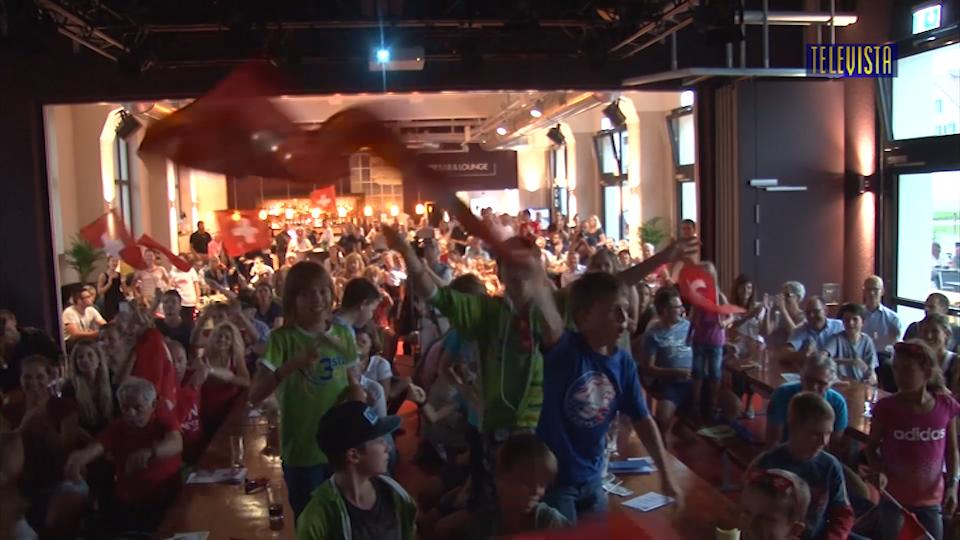Vorschaubild für Public Viewing beim Olympia Triathlon