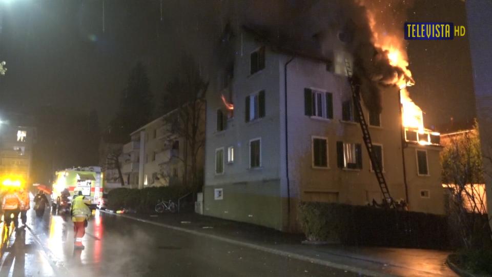 Vorschaubild für Hausbrand an der Florastrasse